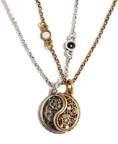 Celebrities who use a Lucky Brand Yin Yang Charm Necklace. Also discover the movies, TV shows, and events associated with Lucky Brand Yin Yang Charm Necklace. Bff Necklaces, Best Friend Necklaces, Couple Necklaces, Best Friend Jewelry, Friendship Necklaces, Couple Jewelry, Yin Yang, Jing Y Jang, Fashion Necklace