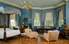 Big Old Houses: Inside Castle Hill on The Crane Estate in Ipswich Massachusetts -  Cornelius Crane's private bedroom. | New York Social Diary
