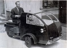 Eine Studie von 1951 – Scootavia Dreirad mit 125ccm Motor.