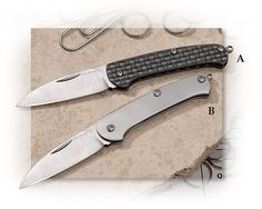 A. G. Russell Ultimate Pen Knife Carbon Fiber and VG-10 but at 2.2 oz thats rather heavy for a keychain knife