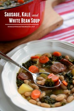 Bean and bacon soup, Bacon soup and White beans on Pinterest