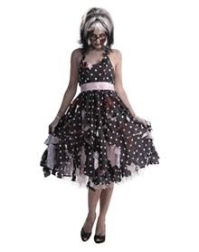 I WANNA BE THIS FOR HALLOWEEN! Zombie Girl 50s Dress Adult Women's Costume