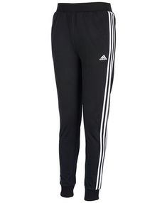 Ribbed details signature stripes and comfy tricot come together on these comfy pullon jogger pants from adidas. Addidas Sweatpants, Cute Sweatpants, Sweatpants Outfit, Adidas Outfit, Black Adidas Joggers, Girls Joggers, Girls Leggings, Leggings Are Not Pants, Sweat Pants