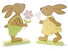 Conejo en madera de apoyar