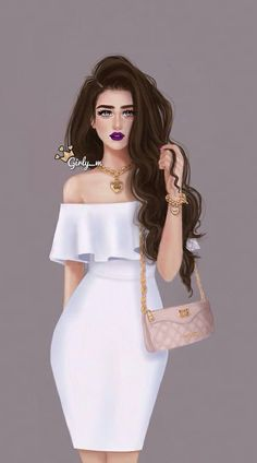 Lista para la ocacion Girly Images, Stylish Girl Images, Girly Pictures, Best Friend Drawings, Girly Drawings, Cartoon Girl Images, Girl Cartoon, Girly M Instagram, Sarra Art