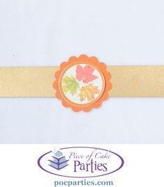 By Piece of Cake Parties.  Fall leaf napkin ring.  Buy a complete unique, handcrafted Fall or Thanksgiving party at pocparties.com.