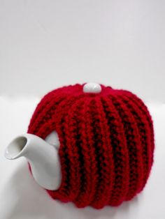 Knit Tea Pot Cozy, Marsala Red Tea Cozy, Home Decor, Kitchen Accessories, Hand Knitted Tea Cozy
