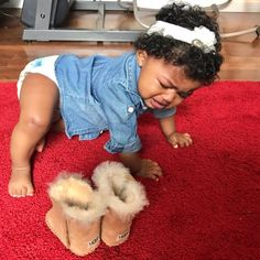 So adorable even when she's crying! Cute Black Babies, Beautiful Black Babies, Cute Baby Girl, Beautiful Children, Cute Babies, Baby Kids, Kids Fever, Baby Fever, Baby Girl Fashion