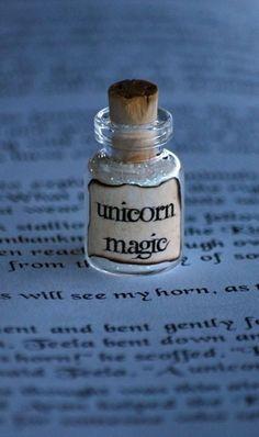 """ooh DIY necklace or something...bottled glitter """"unicorn magic"""""""