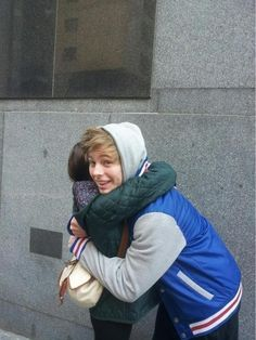 Luke and a fan. I think this is one of the most adorable things I've ever seen.