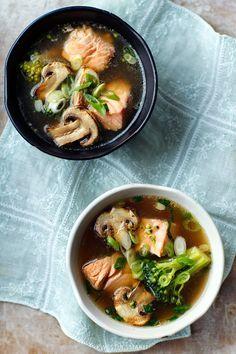Zupa orientalna z łososiem