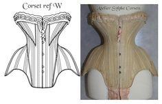 Ref W Antique Edwardian 19.40 inches waist by AtelierSylphecorsets, $36.00