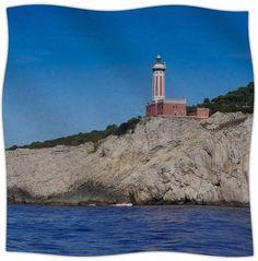 Happy Lighthouse Fleece Throw Blanket