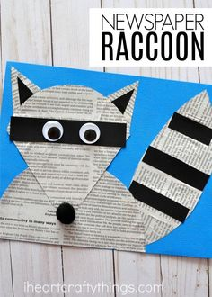 The Kissing Hand craft goes along with the popular children's book and is perfect for a back to school craft. Fun Chester the Raccoon Craft, back to school kids craft and newspaper crafts.