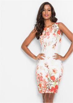 9e0d50d962 Květované šaty bílo-červená - Žena - BODYFLIRT boutique - bonprix.cz  Alkalmi Ruhák