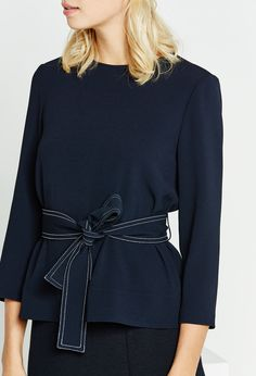 Claudie Pierlot   Blouse BERRY   Belt    Navy   Workwear   OL   Classic