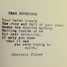 Dear Detective. And Prosper series no. 31.