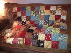 A lap quilt with an autumn and coffee theme. by ToYoursWithLove, $112.00