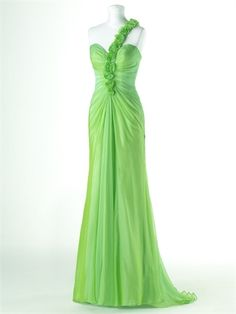 Elegant Column One shoulder with Rosettes chiffon Homecoming Dress HD1008  http://www.homecomingstore.com