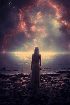 Image about girl in Inspiration by Hanna on We Heart It Fantasy World, Dark Fantasy, Fantasy Art, Space Fantasy, Story Inspiration, Character Inspiration, Double Exposition, Between Two Worlds, Art Graphique