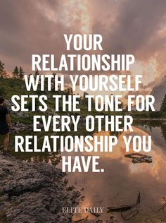 Your relationship with yourself sets the tone for how EVERYONE treats you, how they love you. Want to show yourself some self love? Click the link to join my free 10 day self love challenge. Valentines Day Sayings, Self Love Quotes, Great Quotes, Quotes To Live By, The Words, Positive Quotes, Motivational Quotes, Inspirational Quotes, Guter Rat