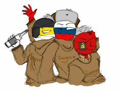 Read from the story ☭Imágenes Countryhumans☭ by WingDings_Gaster (🔥WingDings🔥) with reads. Mundo Comic, Country Art, Soviet Union, South Park, Funny Comics, Hetalia, Tigger, Chibi, First Love