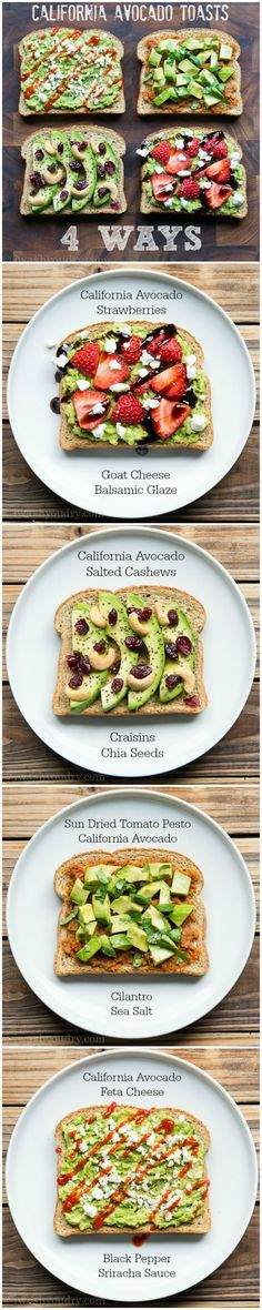 California Avocado Toasts – 4 Ways