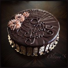 i) - torturile mele Cake Icing, Buttercream Cake, Ganache Frosting, Cake Cookies, Cupcake Cakes, Chocolate Cake Designs, Mexican Dessert Recipes, Cake Decorating Videos, Classic Cake