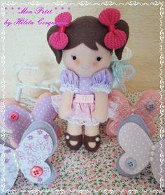 boneca em feltro (molde Érica Catarina)