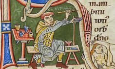 Medieval self-portraits:  Rufillus of Wessenau, a canon in the diocese of Constance of Germany.