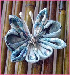 Beautiful Kanzashi tutorials (folded fabric flowers)!!!
