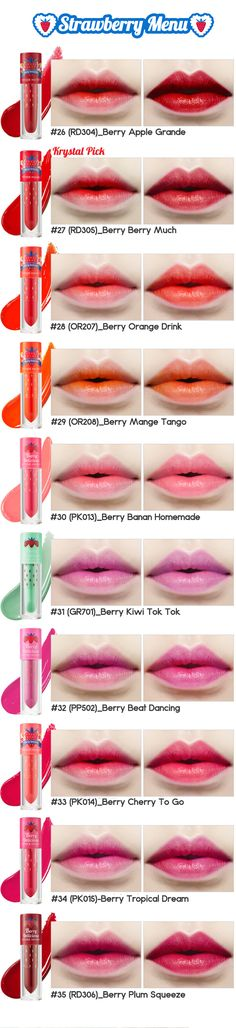 $9 Etude House Berry Delicious Color In Liquid Lips Juicy 3.5g