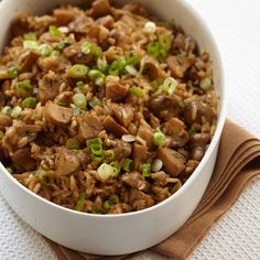 The wonderfully nutty and chewy brown rice in this simple pilaf is a great source of fiber.    Delicious, Quick Side Dishes   ...