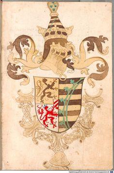 Bruderschaftsbuch des jülich-bergischen Hubertusordens Niederrhein, um 1500 Cod.icon. 318  Folio 6r
