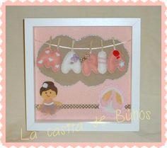 Cuadrito fieltro María inspiración ballet. Ballet handmade felt frame for kids & todlers