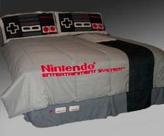 I've got a a lot of nice plans for the house, but I am not above making my bed look like the original NES.