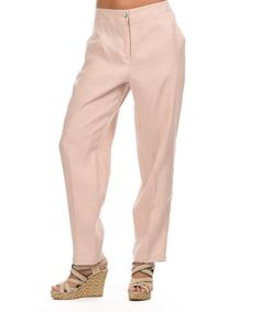 45dab655fdc Light Pink Casual Linen Pant - Women by Eva Tralala