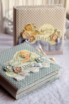"""Another baby album, """"Story Time"""" by Studio Calico Diy Projects Arts And Crafts, Design Crafts, Paper Crafts, Handmade Notebook, Handmade Journals, Mini Scrapbook Albums, Baby Scrapbook, Scrapbook Examples, Handmade Scrapbook"""