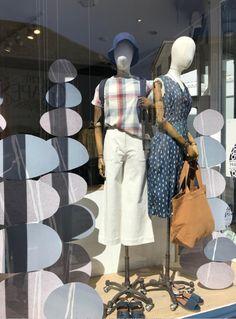 SS21 Styled Mannequins, Seasalt Cornwall. Pebble Window Display