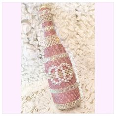 And this is how we do it! My new favorite #memorybottlle  miss coco! Can't wait to share who this one is for! @chanelofficial #pink #bling #champagnebottle #champagne #champagnepop #champagnebottlea #pinkbottle #chanel