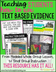 Do your students need help with using text-based evidence? Many teachers want to introduce and use TBE with their students, but they are a little hesitant as to how to do it or even how to get started. Well, wait no further! This file is intended to be used to introduce the use of TBE to your students. In order to make this instruction useful for your students, I recommend scaffolding the instruction based on the need of your students.