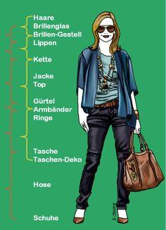 Dieses harmonische #Outfit wendet einen #Fashion-Trick an, um so harmonisch zu wirken. Wie es funktioniert, lesen Sie auf www.modefluesterin.de