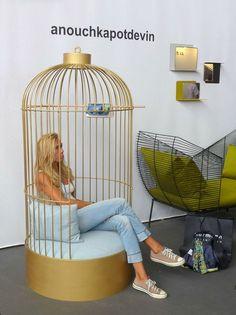 On a aimé le Fauteuil Cage dorée au Salon Maison&Objets 2013