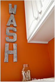 diy letters for the laundry room - WASH DAY