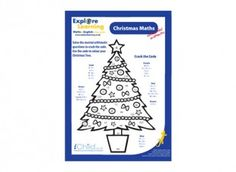 Mental arithmetic worksheet with a Christmas theme!  Find lots more free activities at iChild.co.uk