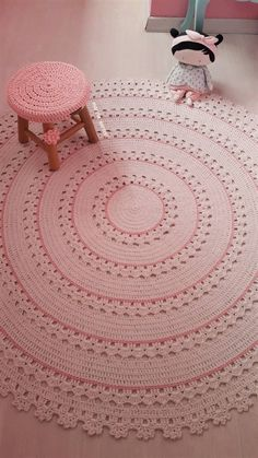 Carpet Runners For Sale In Toronto Crochet Mat, Crochet Carpet, Crochet Rug Patterns, Filet Crochet, Baby Knitting Patterns, Crochet Doilies, Crochet Stitches, Knit Rug, Knitted Baby Clothes