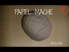 Cómo hacer papel maché - YouTube