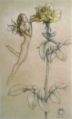 """""""The Rose"""" oil painting by Michael Parkes"""