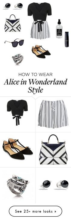 """""""Sin título #175"""" by mvmarien on Polyvore featuring Dolce&Gabbana, WithChic, Topshop, Accessorize, Little Barn Apothecary, Pomellato and Clé de Peau Beauté"""