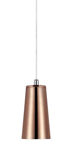 Fönsterlampa Ritz från Markslöjd. Kopparfärgad glasskärm med detaljer i metall. 3,5m sladd med strömbrytare på sladden. Liten lamphållare (E14). Max 25W glödlampa eller motsvarande styrka i halogen, lågenergi eller LED.  #pendel #light #lamp #lampa #markslöjd #copper #koppar  #interior #interiör #inspiration